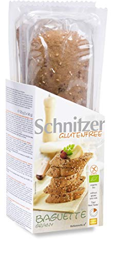 Schnitzer GLUTENFREE Bio Baguette grainy glutenfrei, 5er Pack (5 x 320 g)