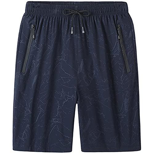 UKKD Pantalones Cortos De Deporte Hombre Talla Grande 6XL 7XL 8XL Men`S Shorts De Secado Rápido Verano Transpirable Ropa Deportiva Jogger Playa Pantalones Cortos Gimnasios Masculinos-Blue,XXXL