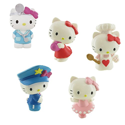 Comansi Lote 5 Figuras Hello Kitty - Corazón - Doctora - Bailarina - Policía - Chef