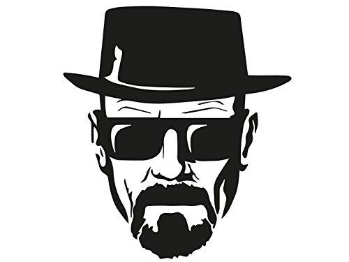 Heisenberg Breaking Bad Walter White Auto Aufkleber Sticker Schwarz 11x12cm Schwarz
