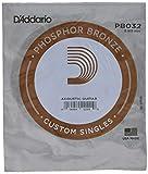 D'Addario PB032 Corde seule avec filet de bronze phosphoreux pour guitare acoustique Calibre .032
