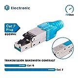 LW Electronic Netzwerkstecker 50µ Vergoldung RJ45 LAN Kabel CAT 7 geschirmt 10 GBit/s 600 MHz...