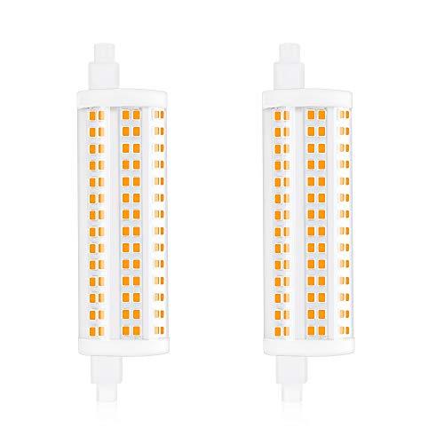 Bonlux - Bombilla LED blanca fría regulable de 20 W R7 de 118 mm, 6000 K J118, foco de maíz de doble extremo, 2200 lm, equivalente a una bombilla halógena de 200 W para el hogar, sala de estar, balcón, hotel, restaurante, etc. (2 piezas)