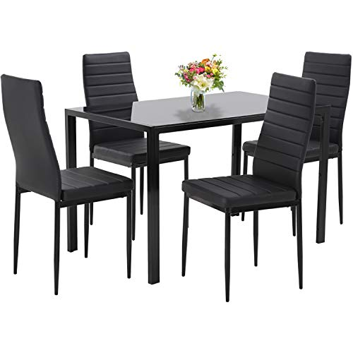 Dining Table Set Dining Room Table Set 5-Piece Kitchen Dining Table...