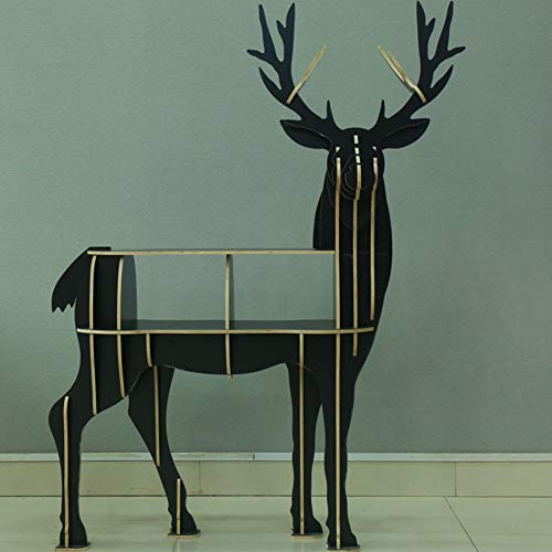 CCLLA Estantería, estantes de Almacenamiento creativos, Modelos de Animales de Alce de pie, jardín de Infantes, niños, Decoraciones de Madera-A 112x50x145cm (44x20x57)
