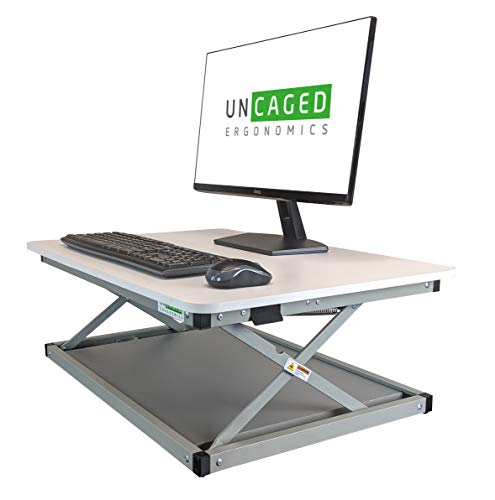 CHANGEdesk MINI Small Adjustable Height Standing Desk Converter for Laptop Macbook Single Monitor Desktop Computer portable lightweight ergonomic sit stand up corner riser affordable compact tabletop