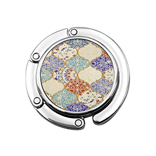 Geldbörse Kleiderbügel beige orientalische Keramik Bunte Patchwork Vintage mehrfarbige Muster in türkischen endlosen Linoleum blau Handtaschenhaken