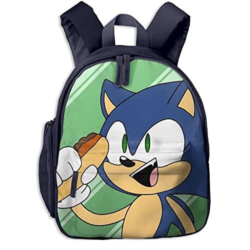 Sonic The Hedgehog - Mochila de skate para niñas, mochila grande, adecuada para viajes escolares, niños y niñas