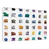 Tappetino Mouse Gaming Composizione di pietre preziose con nomi di zolfo occhio di tigre e geologia minerale Tappetino Antiscivolo in Gomma per Progettato per Giocatori e Lavoro d'ufficio-80x30cm