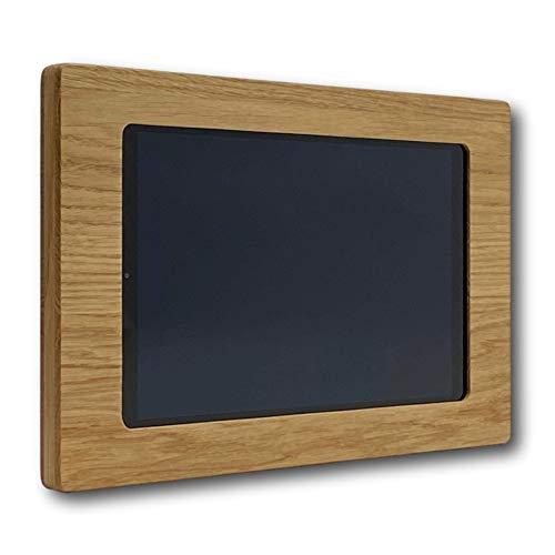 NobleFrames Holz Wandhalter für Samsung Galaxy Tab A 10.1 T510 / T515 (2019) aus Eiche | Wohnzimmer | Küche | Büro