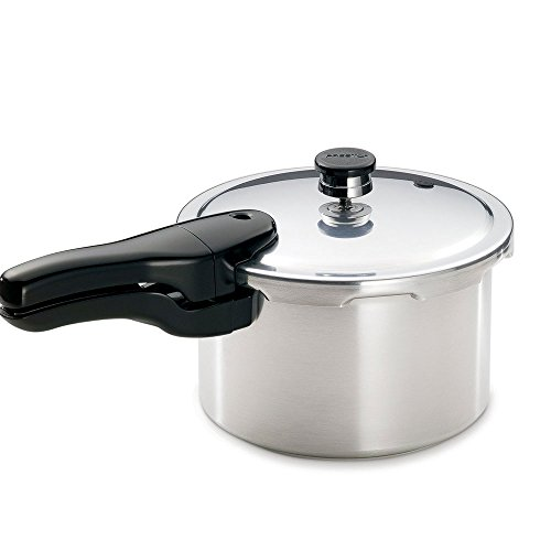 Presto FBA_1241 Pressure Cooker Polished Aluminum 4 Qt, Silver