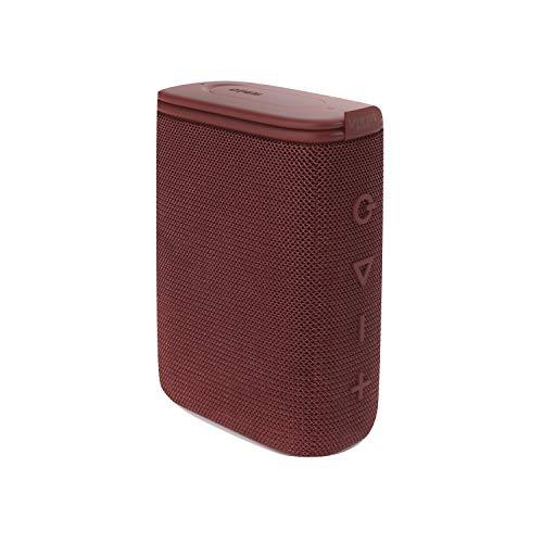 Altavoz Round Up 2 de Vieta Pro, con Bluetooth 5.0, True Wireless, Micrófono, Radio FM, 12 Horas de autonomía, Resistencia al Agua IPX7 y Entrada Auxiliar; Acabado en Color Burdeos.