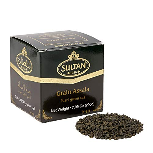 Grüner Tee - Sultan Al Assala - höchste Qualität - Extra Getreide - 200gr
