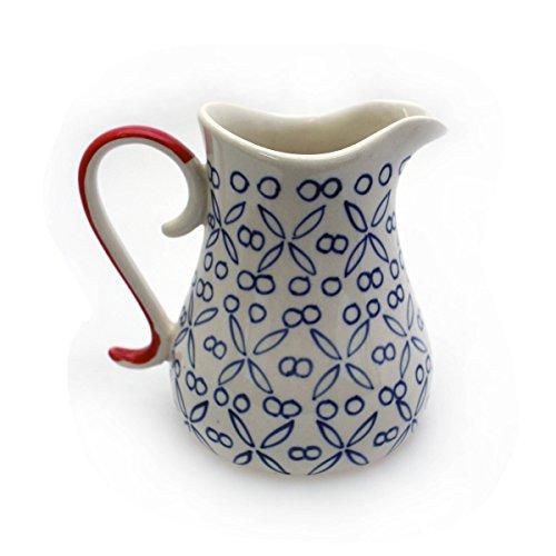 Gall&Zick Milchkanne Milch Kanne Milchkännchen Milchkrug Krug Keramik Bunt Bemalt Sahnekännchen Sahnespender Kännchen (Auswahl) (Kreuze)