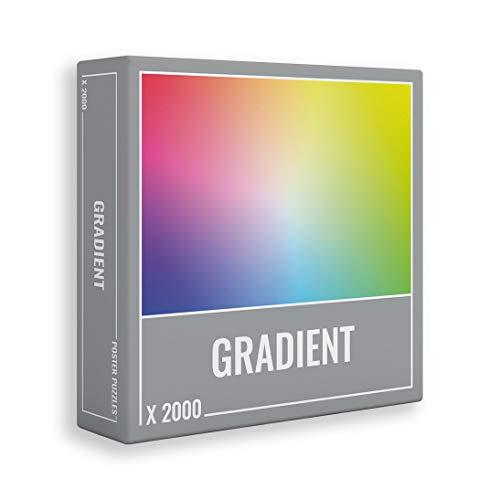 Gradient 2000 - Wunderschönes, herausforderndes 2000-teiliges Gradienten-Puzzle für Erwachsene! Made in Europe und fast einen Meter breit