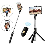 Best Bluetooth Selfie Stick Iphones - Selfie Stick Tripod with Removable Wireless Bluetooth Remote Review