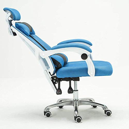 N/Z Daily Equipment Computer Chair Home Recliner Chair Lift Footstool Swivel Chair Office Chair Chair Chair That Can Sleep Chair with Pillow Blue
