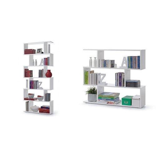 libreria kafka Links - Kafka a8 libreria. Dim. 80x25x192h & a5 libreria. Dim. 110x25x97h - melamina bianco lucido