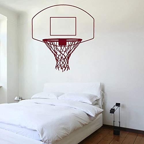 Pegatinas de pared Calcomanía de aro de baloncesto, pegatinas de red para canasta, decoración de pared de habitación deportiva, decoración creativa de dormitorio para niños, Mural artístico 84x90cm