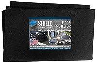 Shield Family フロアプロテクター プレミアム吸収性オイルマット 再利用可能 丈夫 防水 ガレージ床の表面を保護 ガレージショップマット ゴルフカート/ATV/オートバイ用フロアマット 5フィートx8フィート