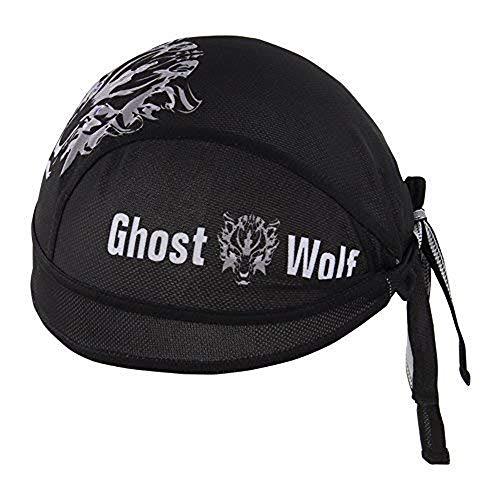 HYSENM Kopftuch Cap Erwachsen Atmungsaktiv Anti-UV für Radsport Motorrad Bandana, Wolf