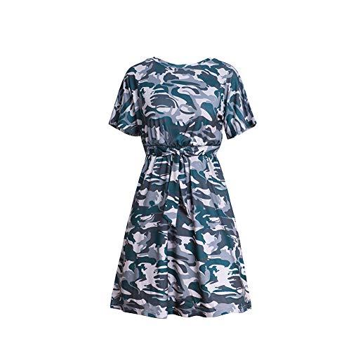 Rock Weiblich Polyester Persönlichkeit Ziemlich Mode Wild Schlank Frühling Herbst Sommer- Tarnen Drucken Kleid Geschenk Exquisit Aussehen/B/S