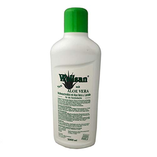 1L Wollsan Aloe Vera Wollwaschmittel Handwäsche Lammfell Waschmittel Reinigungsmittel Fellwaschmittel mit Lanolin