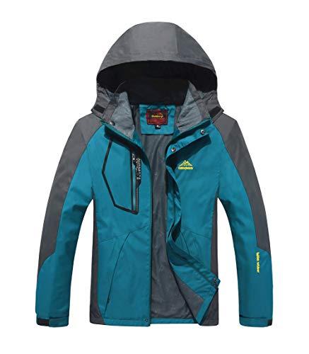 Zeagro Chaqueta Impermeable para Hombres Softshell Impermeable Chaqueta Impermeable al Aire Libre para Caminatas Esquí Senderismo Cazadora de Viento Alpinismo