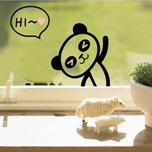 CDNY Abnehmbare Panda Sockel Aufkleber Kreative Wohnzimmer Schlafzimmer Notebook Wand Kostenloser Aufkleber Senden 10cps