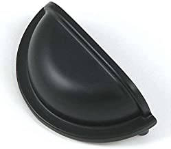 Stone Mill Matte Black 'Nantucket Cup' Cabinet Pulls (Pack of 10)