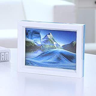 Moving Sand Art Picture, Flowing Desktop Sand Painting Toys,Comes with Beautiful Pictures and Mirrors, Perfect Home Décor and Gift (Reflected Moon)
