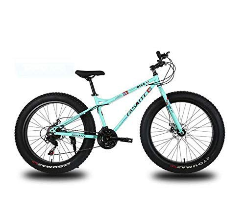 ZTBXQ Fitness Sports Outdoors Mountain Bike for Adults Dual Disc Brake Fat Tire Mountain Trail Bicycle Hardtail Mountain Bike High-Carbon Steel Frame 26 Inch Wheels