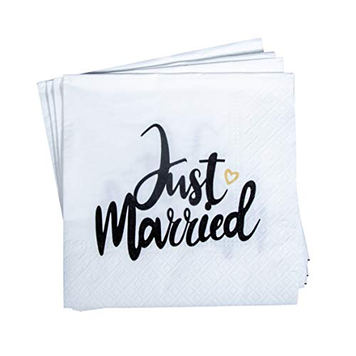 """Rayher 75441000 Serviettes de Table """"Just Married"""", FSC MixCre, 3 Couches 20 pcs"""