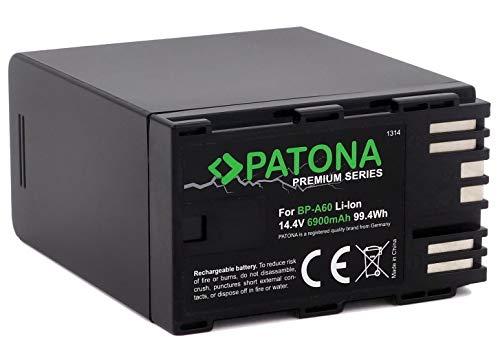 PATONA Premium Ersatz für Akku Canon BP-A60 (6900mAh) - LG-Cells Inside