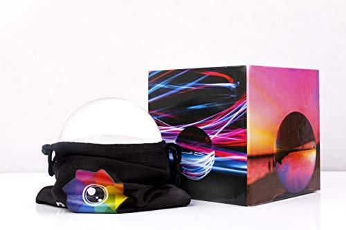Lensball Vivid 80mm–sfera di cristallo K9da Refractique per rifrazione fotografia borsa protettiva e panno per la pulizia in microfibra, con guida in US Dreamcoated box.