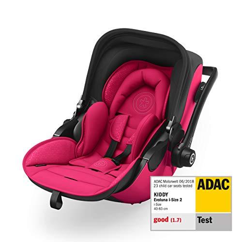 Kiddy Evoluna i-Size 2 Siège bébé avec fonction couchage (groupe 0+) jusqu'à env. Lot de 15 mois (max. 13 kg) avec base Isofix | Collection 2019 | Rubis Rose