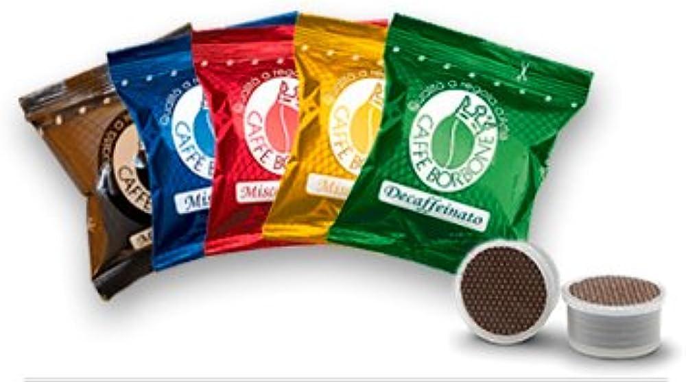 Caffè borbone  respresso,set di miscele ,5x50 capsule,compatibili con nespresso
