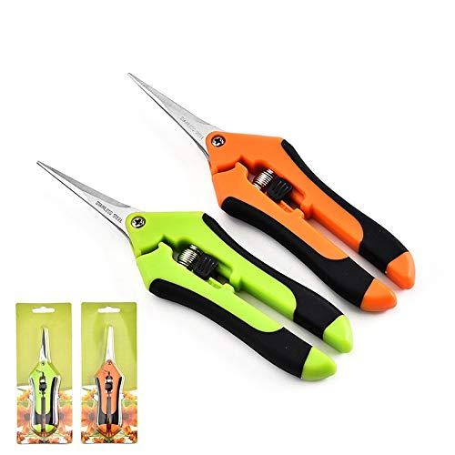 Cisailles de jardin en acier inoxydable outils d'élagage manuel cisailles pamplemousse cueillette mauvaises herbes ménage deux ensembles