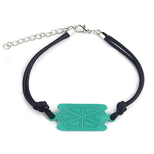 Collar de cuerda exquisito Noir Niños JoyeríaRosa Redondo Colgante Collares para niñas Regalo Rustred