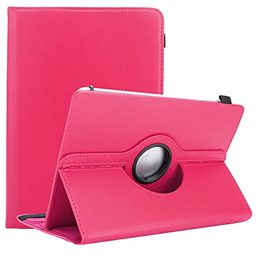 Cadorabo Tablet Hülle kompatibel mit Lenovo Tab P10 (10.1 Zoll) in PINK - Schutzhülle aus Kunstleder mit Standfunktion - 360 Grad Hülle mit Gummiband