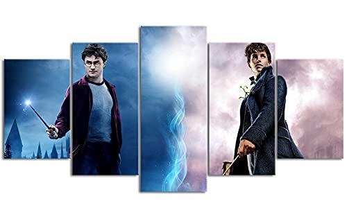YLAXX Harry Magic Potter Academy Hogwarts Hp7 Lienzo de impresión Lienzo Arte de Pared Lienzo de Desplazamiento Impresión de Oficina Arte Retrato Decoración 200x100 cm Pintura sin Marco