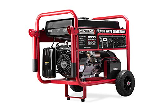 Gentron GG10020C 10000 Watt Gas Portable Generator with Electric Push Start for Home Emergency Power Backup RV Standby, Hurricane Storm Damage Restoration, CARB Compliant -  Gentron Power Equipment