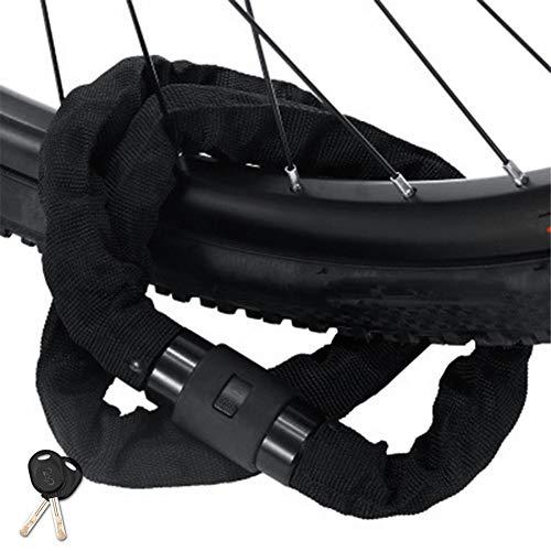 Candado Bicicleta Candado Bicicleta Antirrobo Cadena Antirrobo Moto Candados para Bicicletas Candado De Bicicleta Cable Antirrobo por Equipo De Bicicleta Black,0.6m