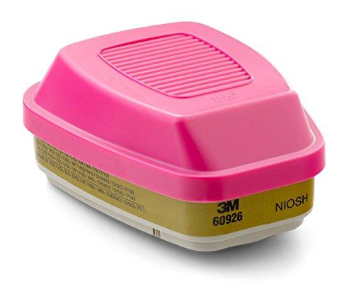 3M Multi Gas/Vapor Cartridge/Filter 60926, P100 Respiratory Protection (Pack of 4)