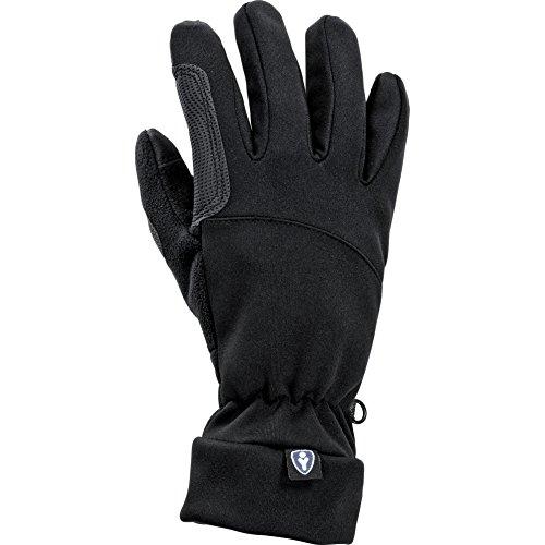 Thermoboy Unterziehhandschuhe City Handschuh 1.0, sehr weich, gutes Griffgefühl, Stretchbündchen, für Touchscreen-Gerätebedienung geeignet, Schwarz, S