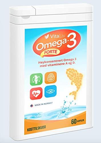 VITALIV Omega 3 | 60 Kapseln|100% Fischöl | Das Ergänzungsmittel für jede Person | EPA, DHA und Fettsäuren