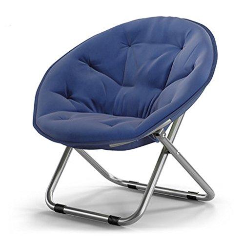 折りたたみチェア リビングルーム家具 怠惰な椅子 携帯便利 滑り止め 直立綿で詰め込む 寮の椅子 レジャーチェア ソファーチェアー 5色可選択 (紺色)
