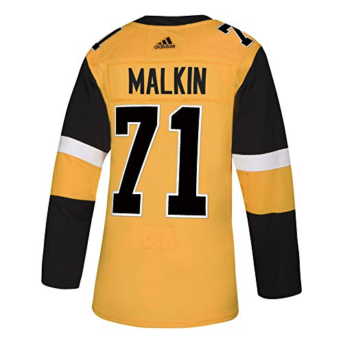 adidas Pittsburgh Penguins Evgeni Malkin Authentic Alternate Pro Jersey (54/XL) Yellow