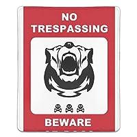 マウスパッド 滑り止めゴム底 耐洗い表面 耐久 犬注意 180X220X3mm