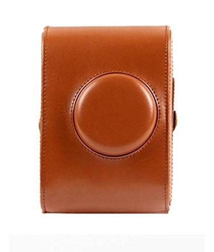 Forusky Retro - Funda de piel con correa para cámara Lomography Lomo, color marrón